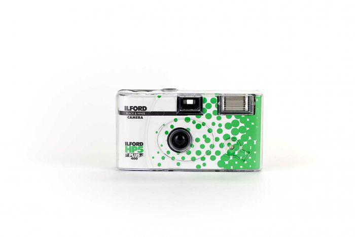 HP5 Einwegkamera mit Blitz 400 ASA / 27 Aufnahmen black & white