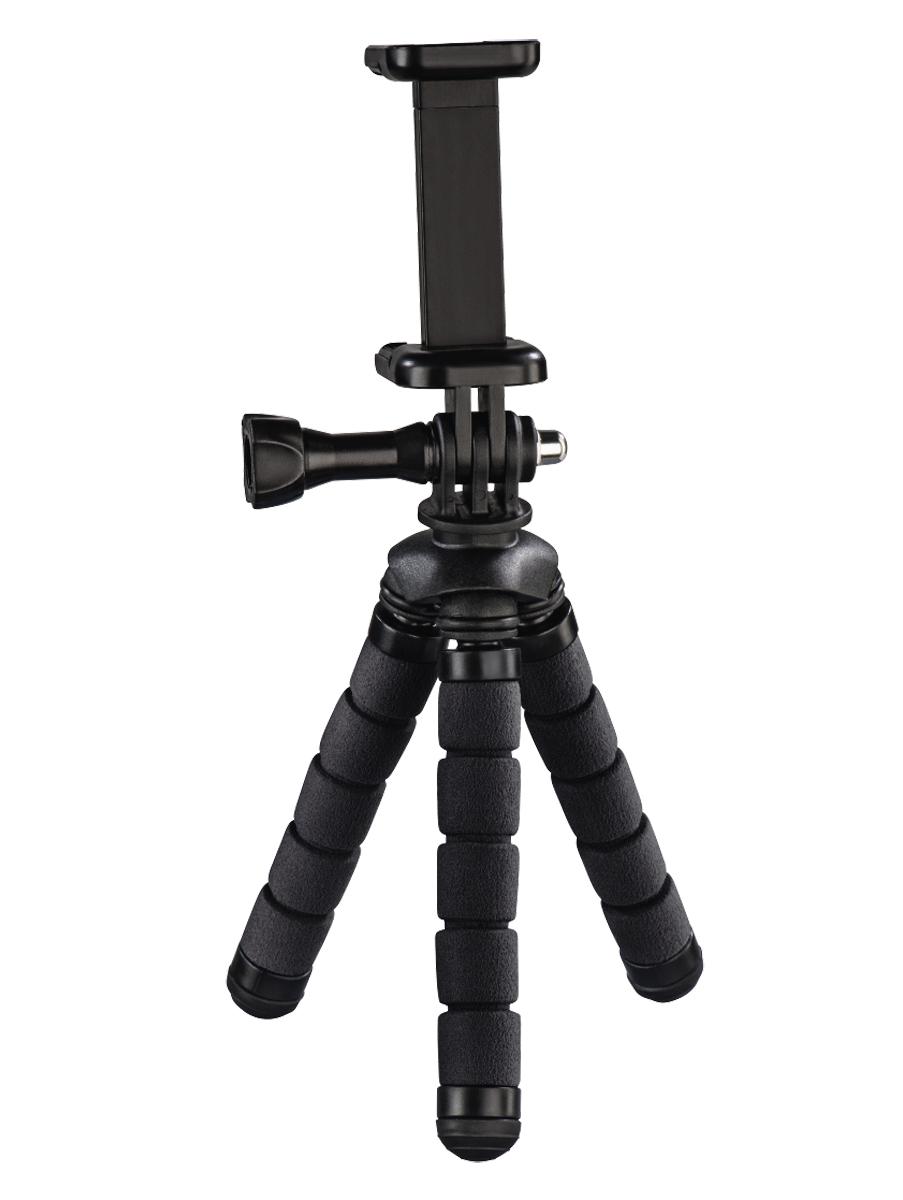Hama Flex Ministativ, 14 cm, schwarz für Smartphone und GoPro 110181