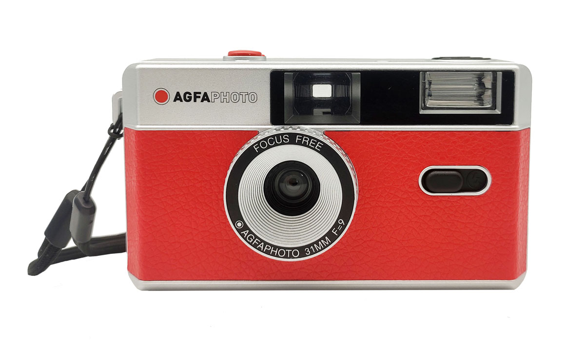 Agfaphoto Reusable Photo Camera red, analoge Kleinbildkamera 110482