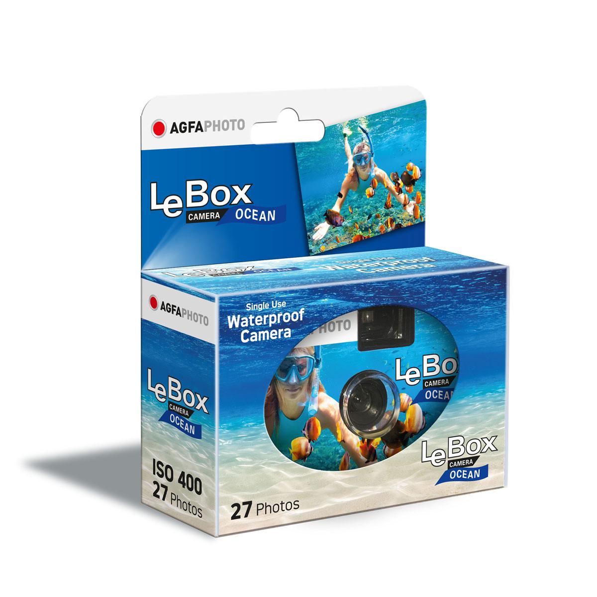 Agfaphoto LeBox Ocean 400 27 Aufnahmen wasserfest bis auf 3m, Einwegkamera 61321