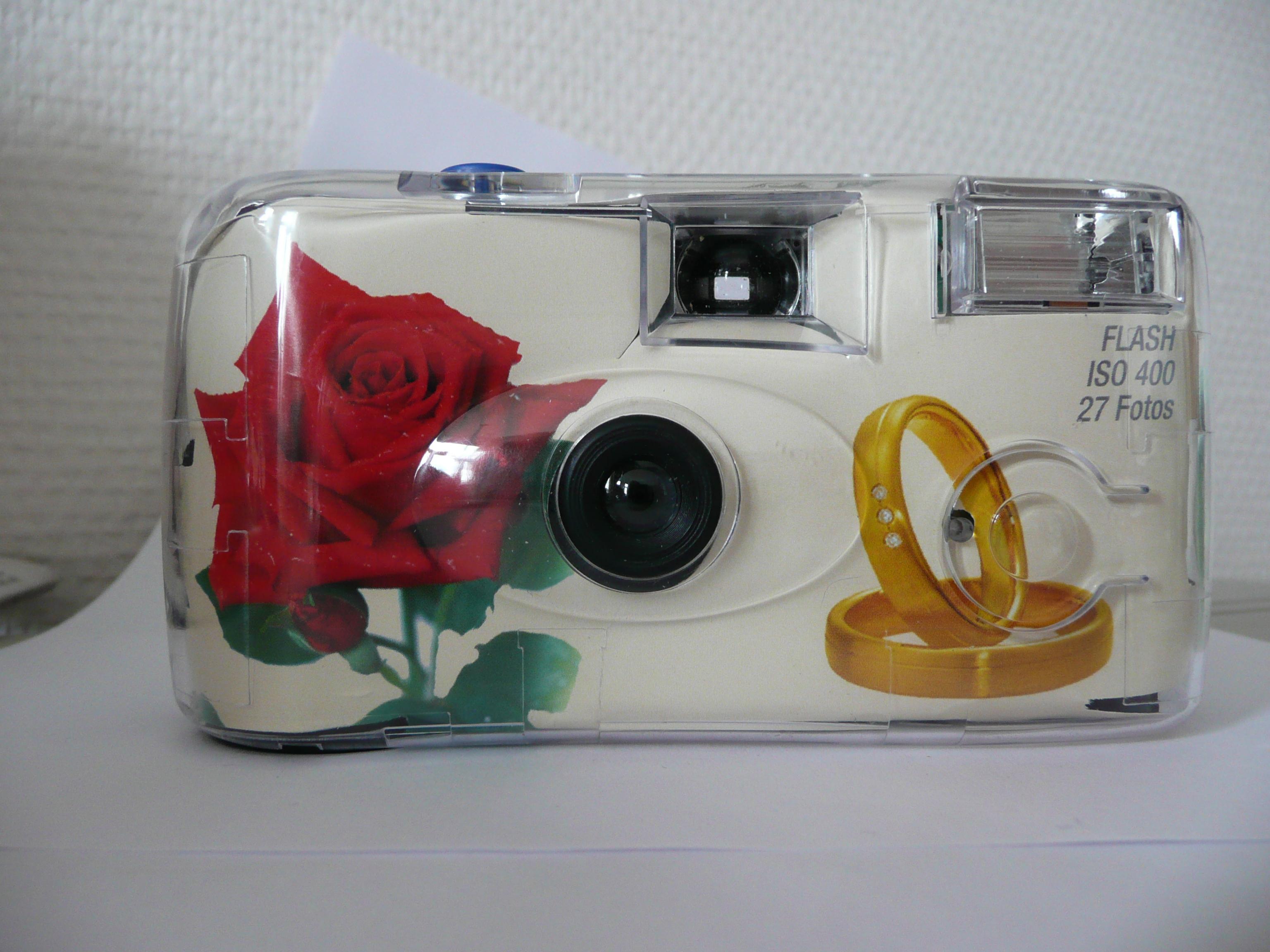 Diverse Einwegkamera ROSEN+RINGE Hochzeitsdesign 66194