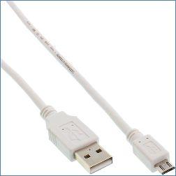 Inline Micro-USB 2.0 A an B Kabel 1 m weiß 86061